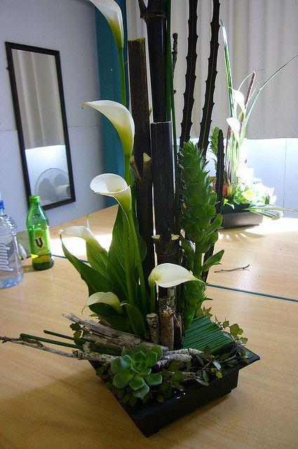 floral arrangements using bamboo sticks