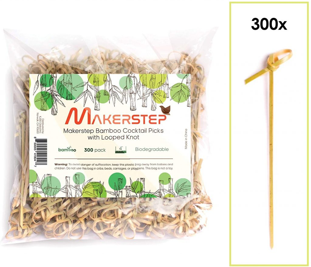 bamboo toothpicks with knot