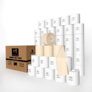 ZHOO Unbleached Bamboo Toilet Paper
