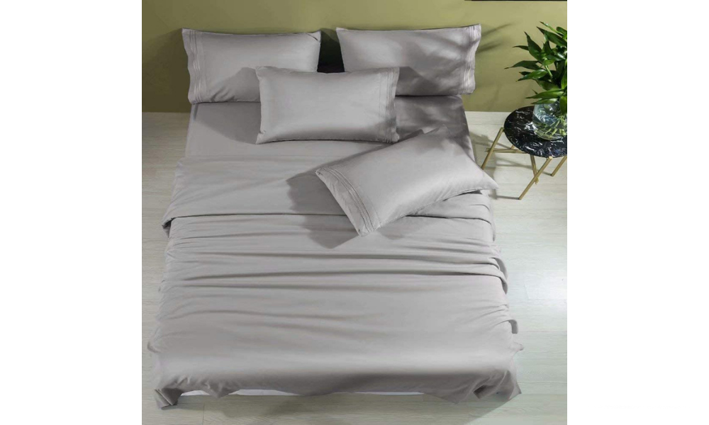 Shilucheng Cool 6 PC 100% Bamboo Bed Sheets